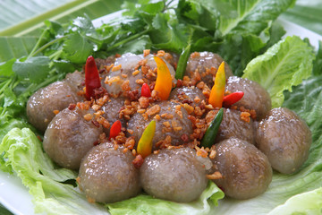 Tapioca Dumplings with Pork Stuff