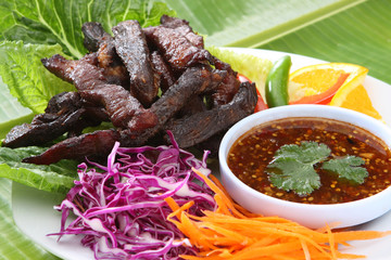 Thai Food Fried Beef Jerky