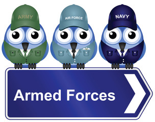 Armed Forces Sign