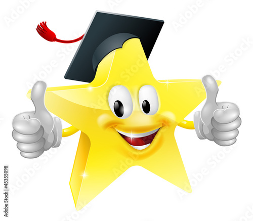 Graduate star mascot