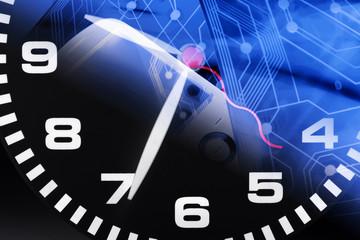 Clock and Printed Circuit