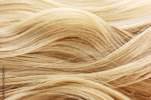 Curly blond hair background - 45356862