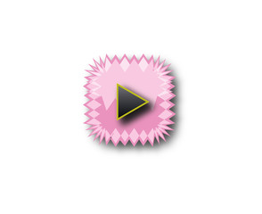 light pink play button