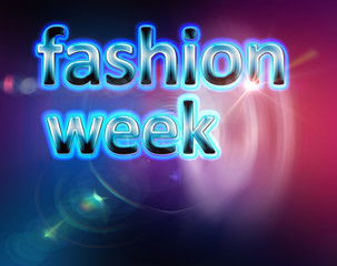fashion week background template