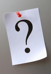 question mark on a piece of paper