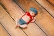 Newborn Baby Boy Wearing a Little Man Costume
