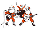 Fototapety Weihnachtsmann Rockband