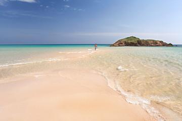 einsame Lagune in Sardinien