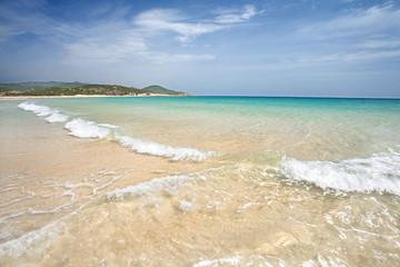 einsamer Strand in Chia