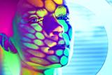 woman color face art