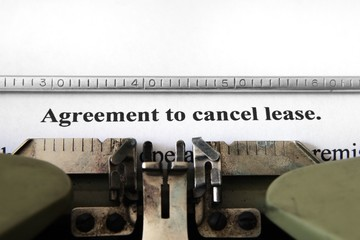 Agreement to cancel lease