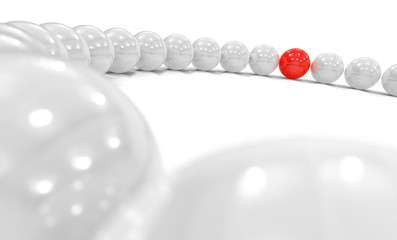 3D Kugel Kreis Fokus - rot weiß 1 © styleuneed