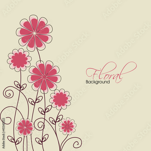 Tuinposter Abstract bloemen Abstract floral background. EPS 10