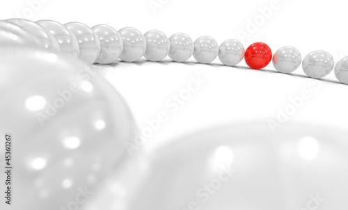 3D Kugel Kreis Fokus - rot weiß 1