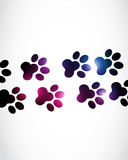 Abstract Paw Prints
