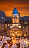 Fototapety berlin gendarmenmarkt christmas sunset