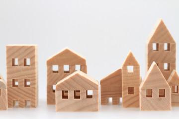 積み木の住宅