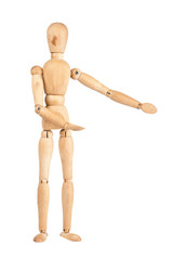 Wooden dummy showing direction