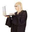 Lawyer working on the computer