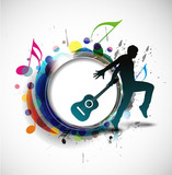 Fototapety Abstract music dance background. vector illustration.