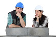 Couple building wall