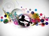 Fototapety Music dj concept poster