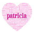 """""""PATRICIA"""" Tag Cloud (i love you be my valentine card heart)"""