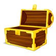 vector illustration of treasure chest against white