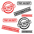 "Stempel Set ""Top Secret"" & ""Confidential"""
