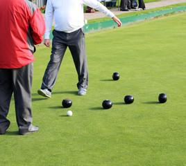 playing bowls
