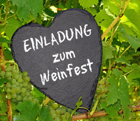 Einladung zum Weinfest
