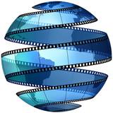 Fototapeta taśmy - glob - TV / Video