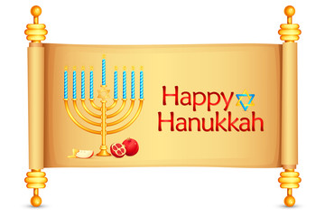 vector illustration of manorah wishing Israel New Year