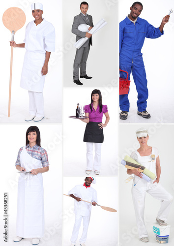 miscellaneous shots of people in professional outfit
