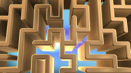 Golden maze spinning