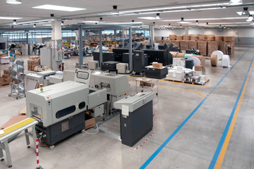 Printshop (press printing) - Finishing line