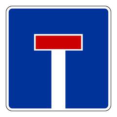 Verkehrszeichen Sackgasse - Sackgassenschild