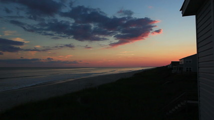 Carolina beach at twilight