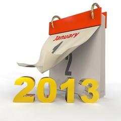 Calendario Rojo Año 2013
