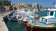 Boats in harbor near Venetian Fortress Koules, Heraklion, Crete