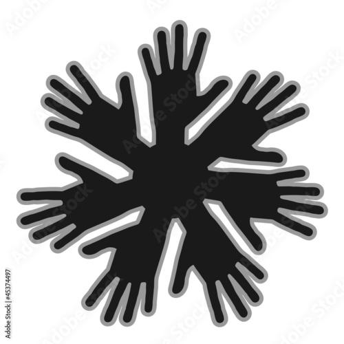 Team hand icon