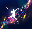 Abstract music dance background for music event design.
