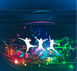 Abstract music dance background. vector illustration.