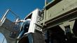 Driver Driving Dump Truck