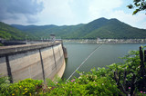 Dam for manufacture the electricity, Bhumibol dam thailand