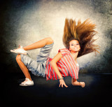 Fototapety Dance. Hip-Hop Dancer. Dancing Teenage Girl