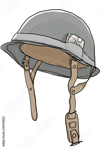 Military helmets  art illustrator