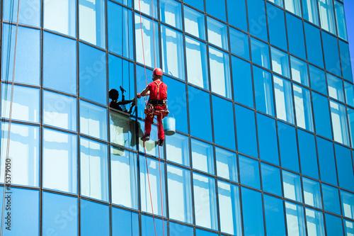 Washer wash the windows