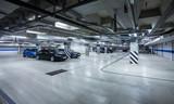 Parking garage, underground interior - Fine Art prints