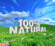 100% natural on sunny meadow